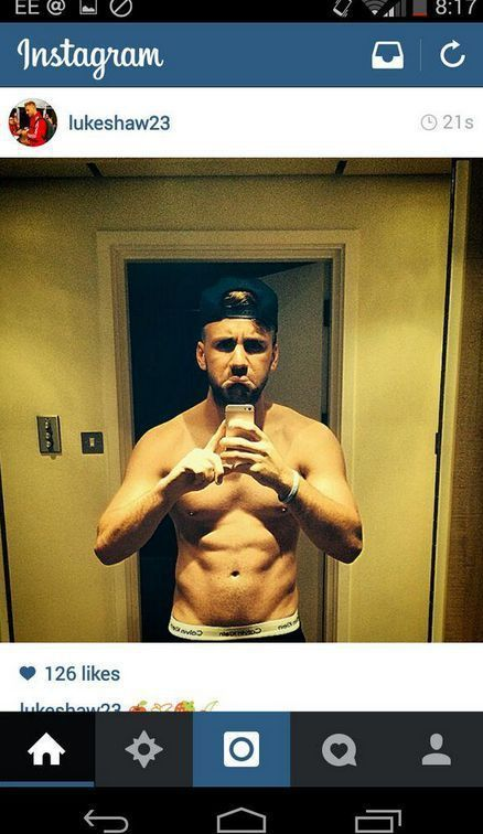 Luke Shaw Including Shirtless image
