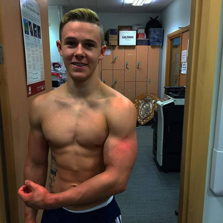 British Gymnast Brinn Bevan Shirtless image