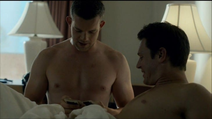jonathan groff russell tovey shirtless gay looking