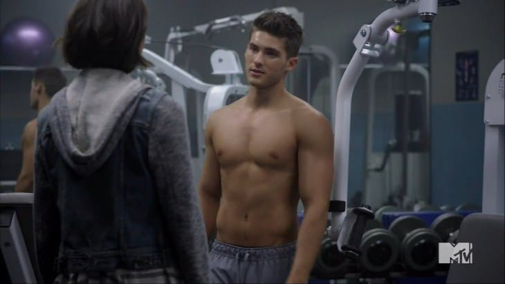 Cody Christian Shirtless At Gym In Teen Wolf image