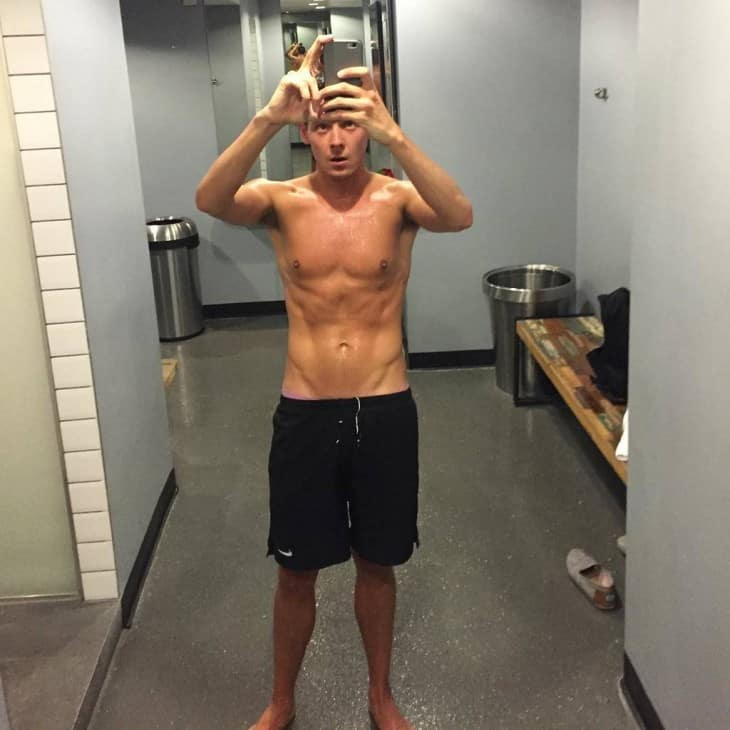 Chris Parker Shirtless After Gym Selfie image