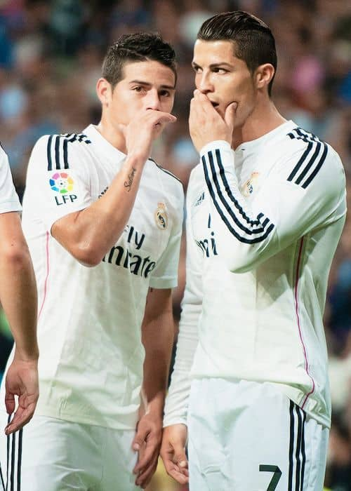 James Rodriguez and Ronaldo for Real Madrid