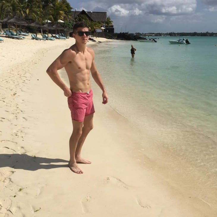 boxer luke campbell shirtless on holiday