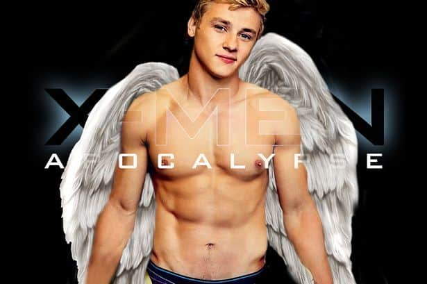 Ben Hardy Shirtless x men angel