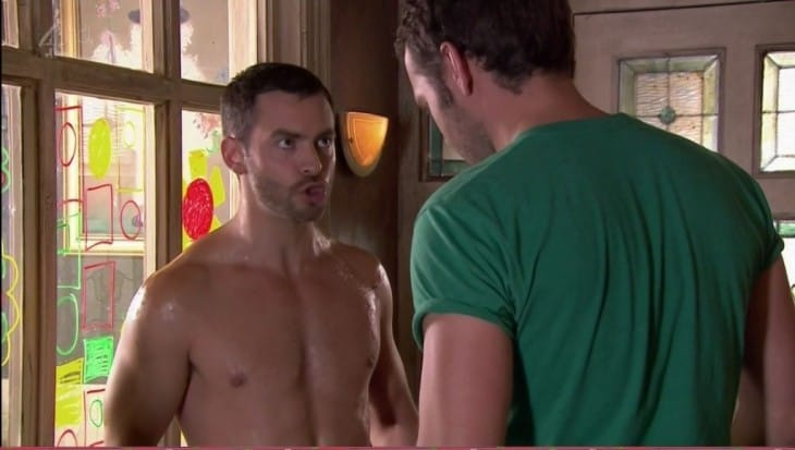 Cameron Moore Shirtless On Hollyoaks