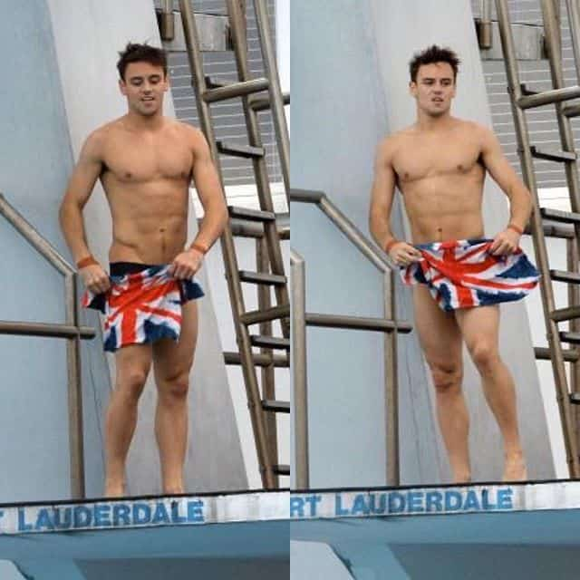 New Tom Daley Topless & Barefoot Photos image