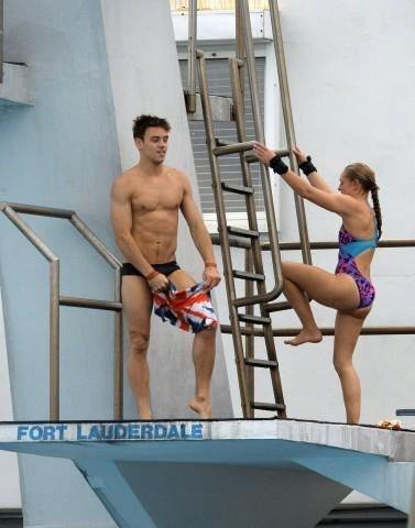 New Tom Daley Topless & Barefoot Photos