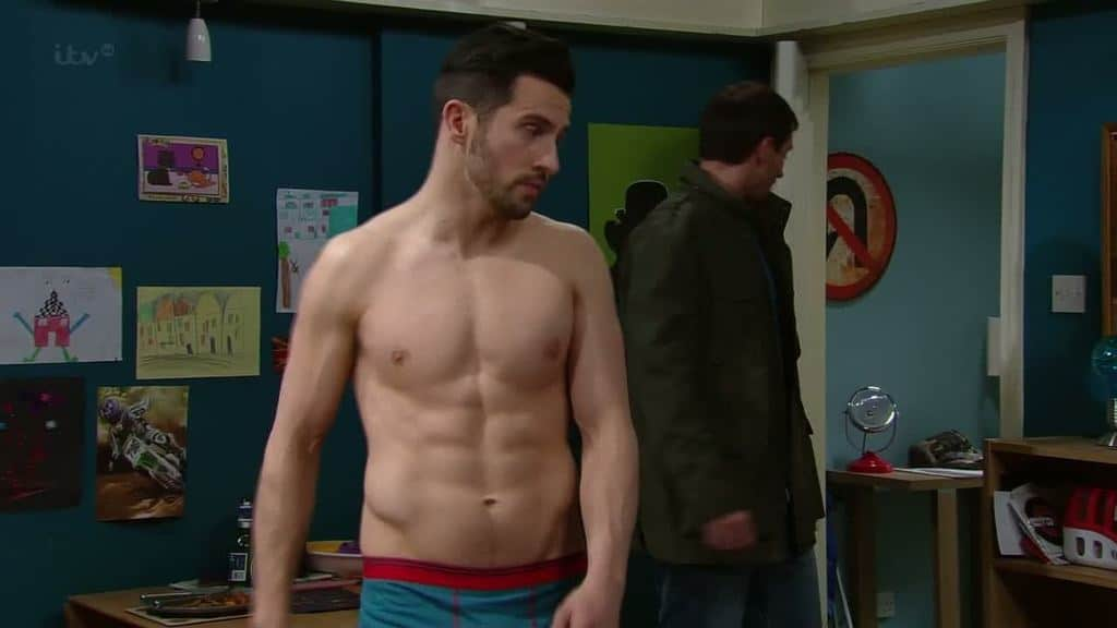 here are some recent shirtless screencaps of the emmerdale actor