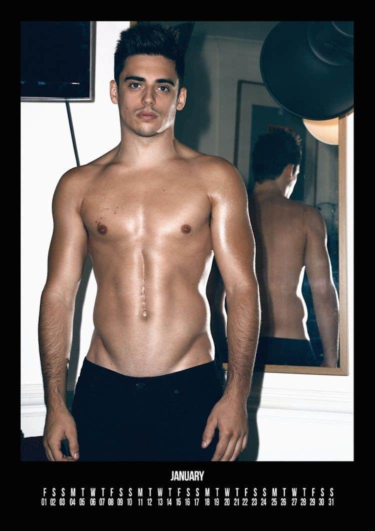 Chris Mears 2016 Calendar - Shirtless Pics