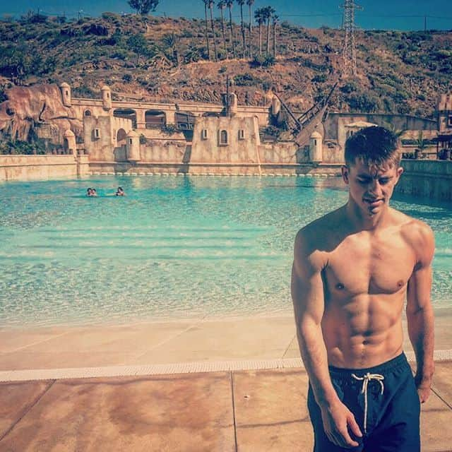 Max Whitlock Shirtless Holiday image