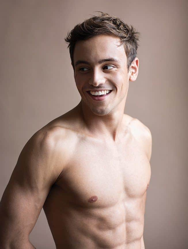 Tom Daley Shirtless Photoshoot Including Dustin Lance Black
