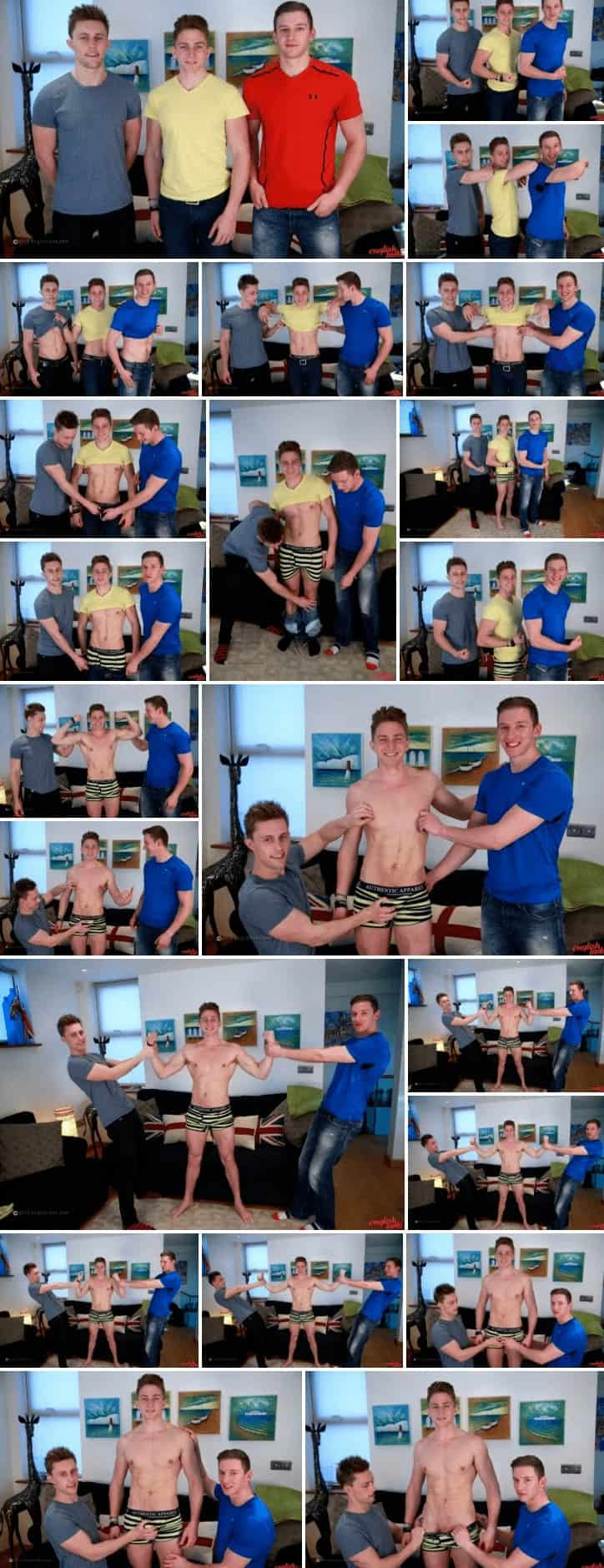 Marc Wanks Cock for the 1st Time & Manages to Suck Andrew & Cameron Together!