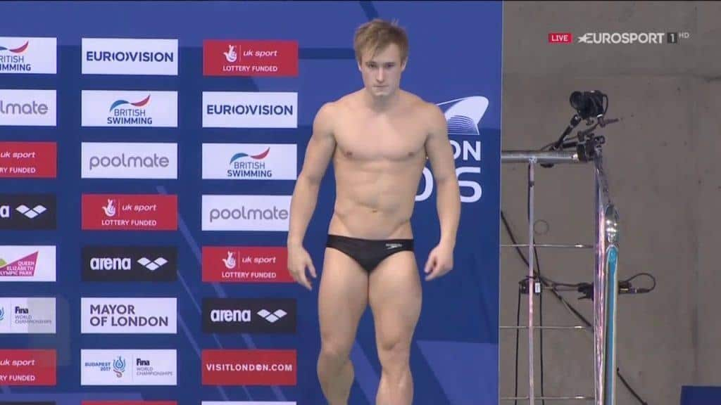 Jack Laugher Shirtless & Barefooted