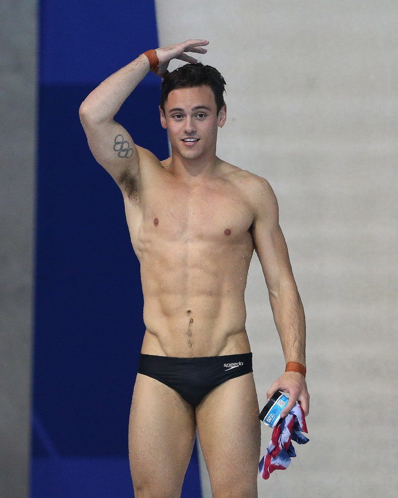 Tom Daley Shirtless & Showing His Pits image