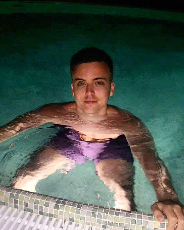 Parry Glasspool Shirtless On Holiday image