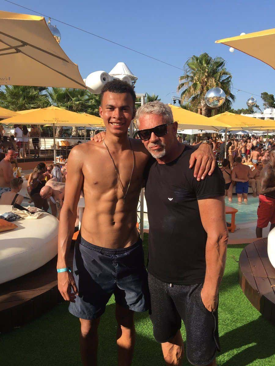Dele Alli Shirtless On Holiday image
