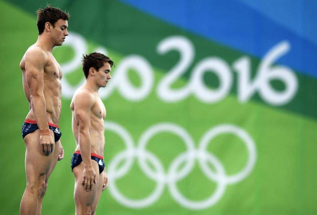 Daniel Goodfellow & Tom Daley In Action At Rio