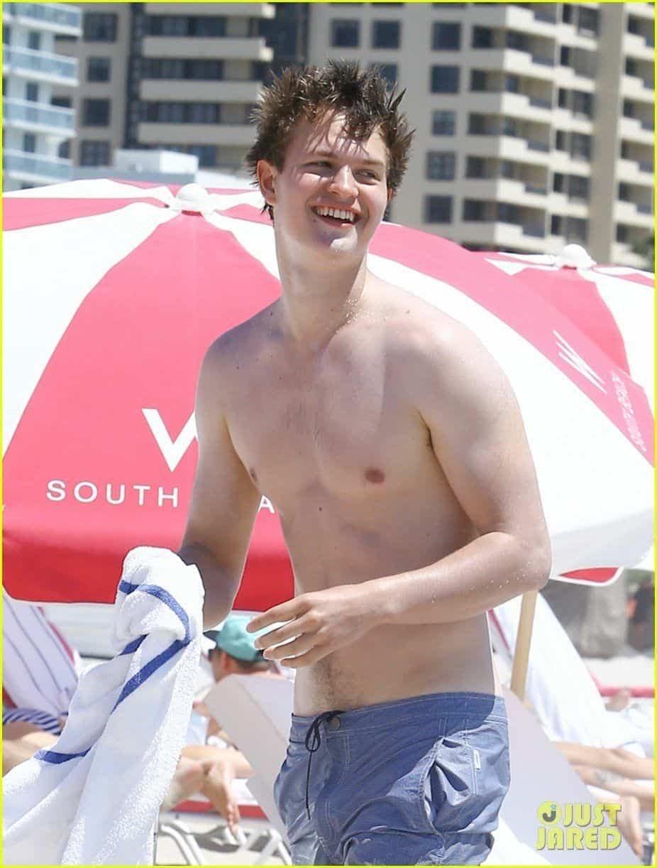 Ansel Elgort Shirtless image