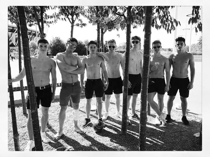 Team GB Divers Shirtless