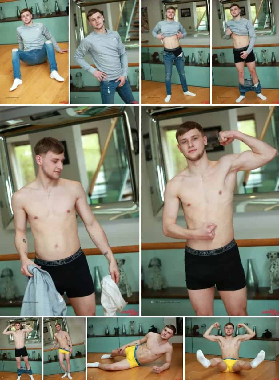Scally Lad Danny Davis Strips For English Lads
