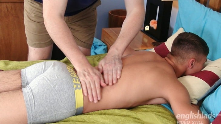 George Hirst, English Lads, Bum, British Gay Porn - George Hirst Gets Full body Massage With Climax