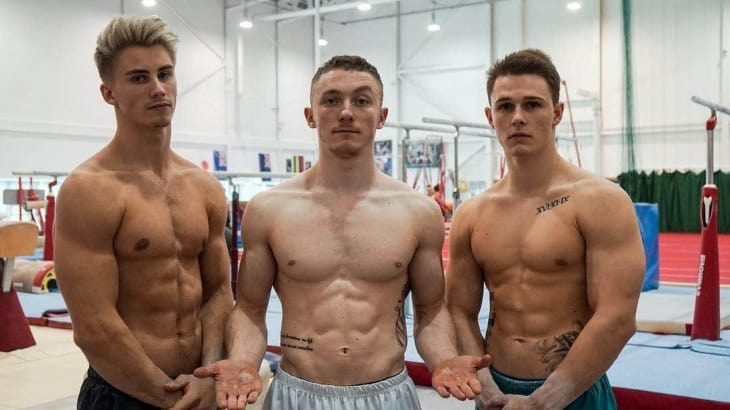 Team GB's British Gymnasts Shirtless