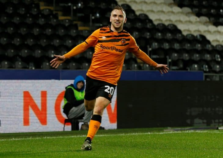 jarrod bowen scoring for hull city