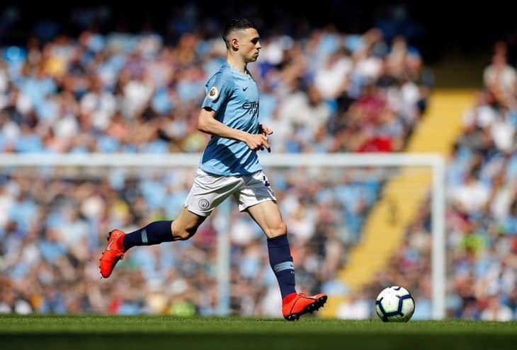 phil foden on the ball for man city
