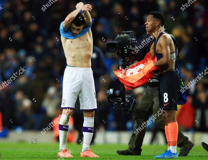 phil foden shirtlift after game