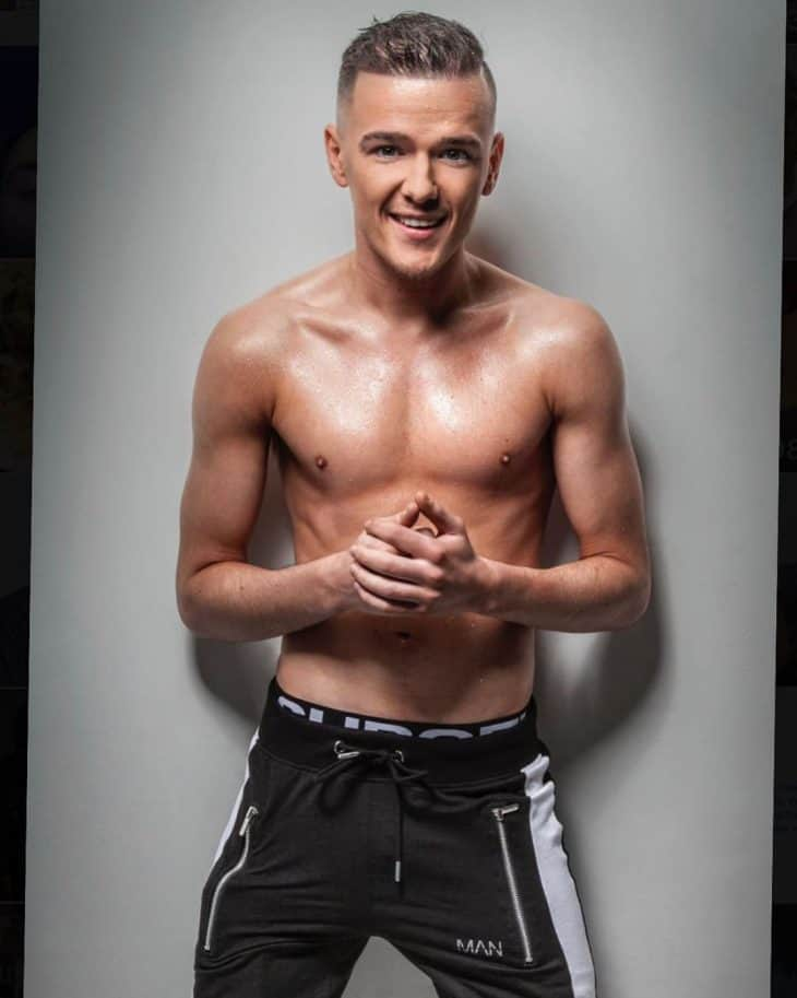 george sampson shirtless trackies
