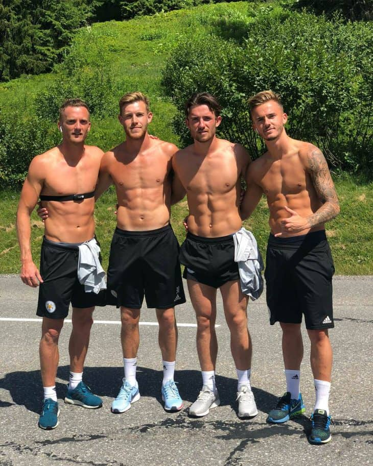 - James Maddison Shirtless - Leicester City Footballer
